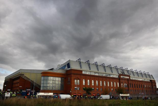 Crisis-hit Rangers are set to platy before a capacity crowd at Ibrox today