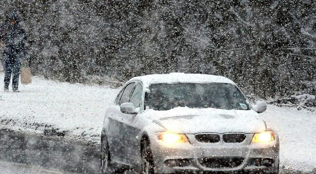 Motorists have been warned to expect blizzards and ice in northern parts of the country