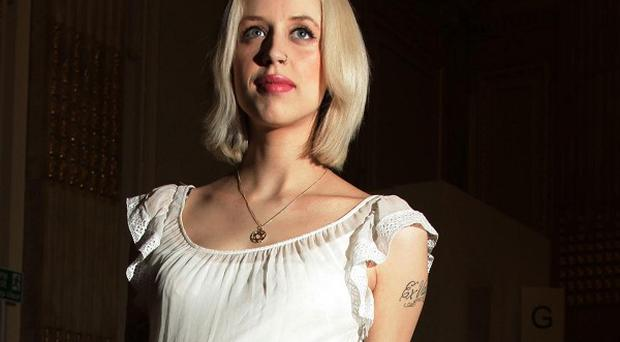 Peaches Geldof at the Temperley show at Somerset House in London