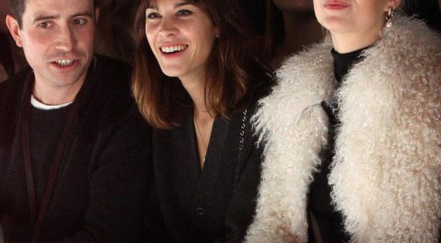 Nick Grimshaw, Alexa Chung and Pixie Geldof at the House of Holland catwalk show at Goldsmiths Hall, London