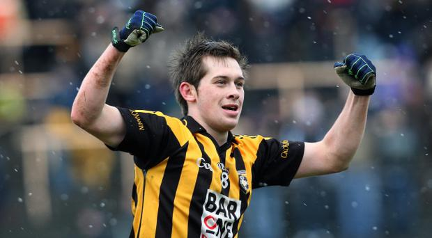 Crossmaglen's Johnny Hanratty celebrates at the final whistle