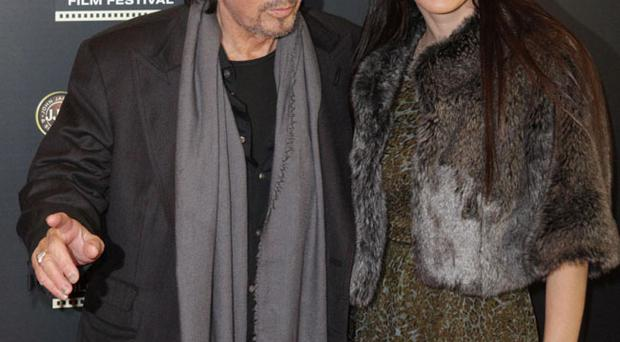 Al Pacino and girlfriend Lucila Sola as they attend the Jameson Dublin film festival showing of Wilde Salome at the Savoy Cinema