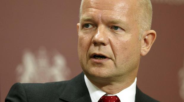 William Hague warned there was risk of an arms race in the Middle East if the Tehran regime developed a nuclear bomb
