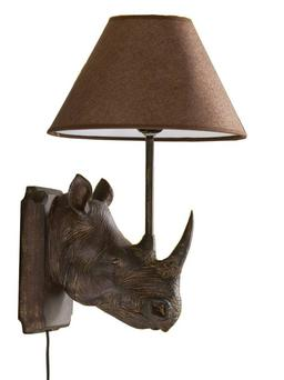 <b>1. Rhino wall lamp </b><br/>A quirky rhino-head lamp makes a change from the ubiquitous stag's head. The downside is that you will need two to make an impact, which means it is quite pricey. <b>Where:</b> grahamandgreen.co.uk <b>How much:</b> £95