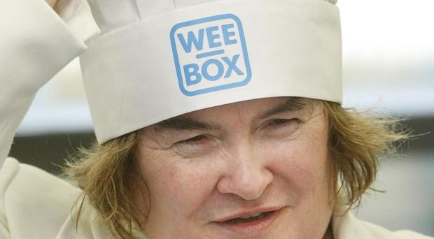 Susan Boyle lent a hand to the charity appeal