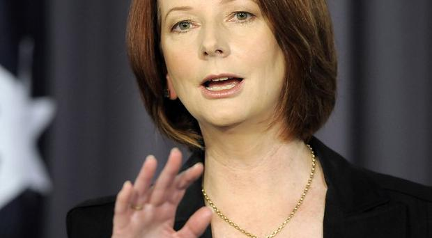 Julia Gillard came to power in an internal coup within her Labour Party (AP)
