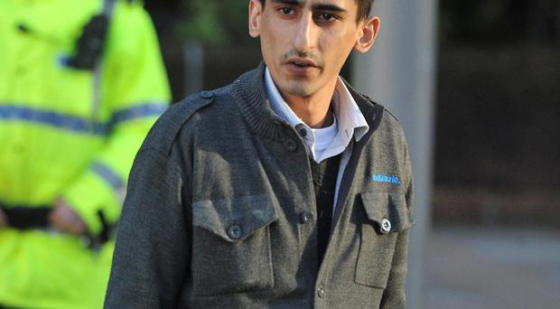 Kabeer Hassan arrives at Liverpool Crown Court