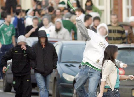 Flashback to 2009 - Students clash with police in the Holylands area