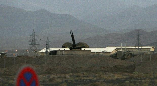 An anti-aircraft gun position at Iran's nuclear enrichment facility in Natanz, Iran (AP/Hasan Sarbakhshian)