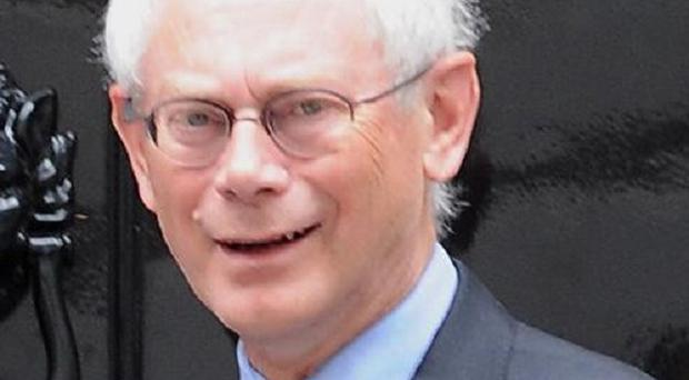 An EU official said no objections were being heard to the reappointment of Herman Van Rompuy