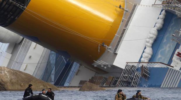 The Costa Concordia ran aground off the Italian coast (AP)