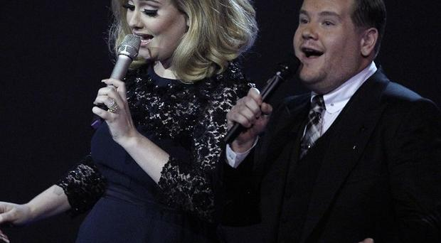 James Corden cut off Adele's acceptance speech at the Brit Awards