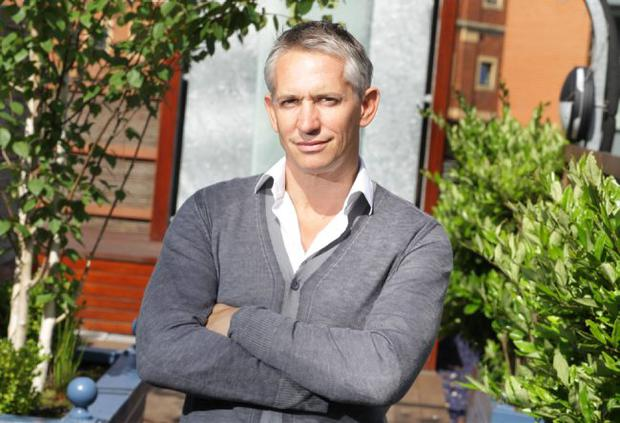 Looking crisp: Gary Lineker