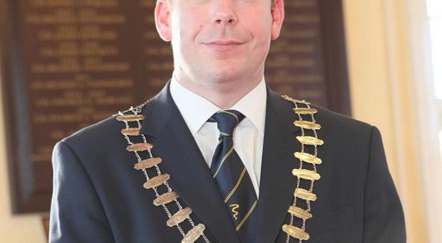 The former mayor of Naas, councillor Darren Scully