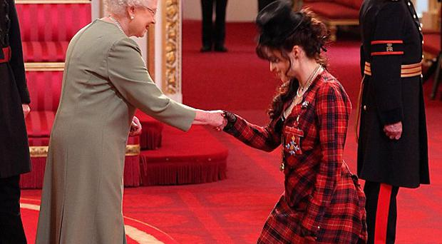 Helena Bonham Carter was awarded the CBE by the Queen