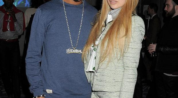 Fazer made his catwalk debut before partying with Zara Martin