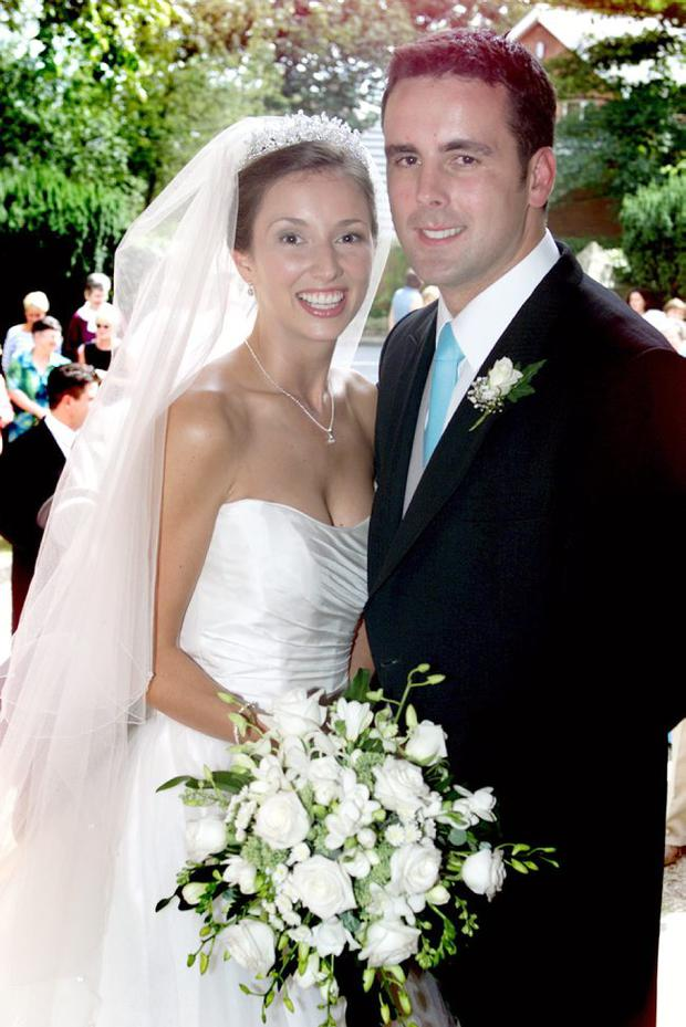 UTV PRESENTER CLAIRE McCOLLUM WITH HER HUSBAND ALASTAIR CLARKE AFTER THEIR WEDDING