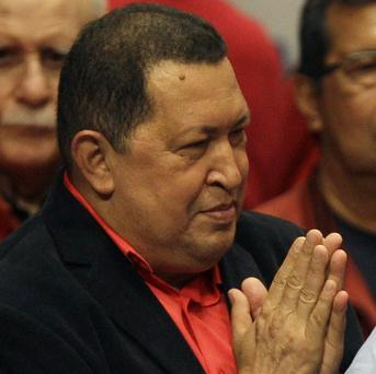 Hugo Chavez attends an event event honouring him at the Teresa Carreno theatre in Caracas, Venezuela (AP/Fernando Llano)