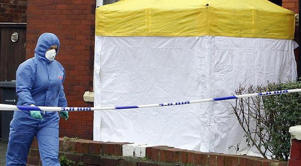 The house in Birch Street in Southport where a pensioner was found dead