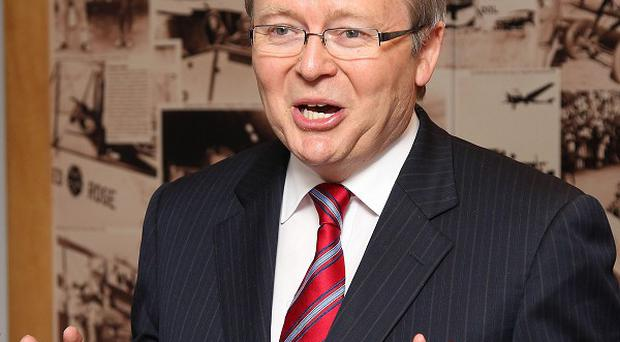 Kevin Rudd is to challenge for the leadership of the Labour Party and of Australia (AP)