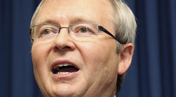 Kevin Rudd is the underdog in Monday's leadership vote (AP/Tertius Pickard)