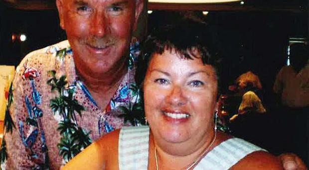 Peter Rippington, 59, died and his wife Sharon was injured when a coach crashed in northern France (FCO/PA)