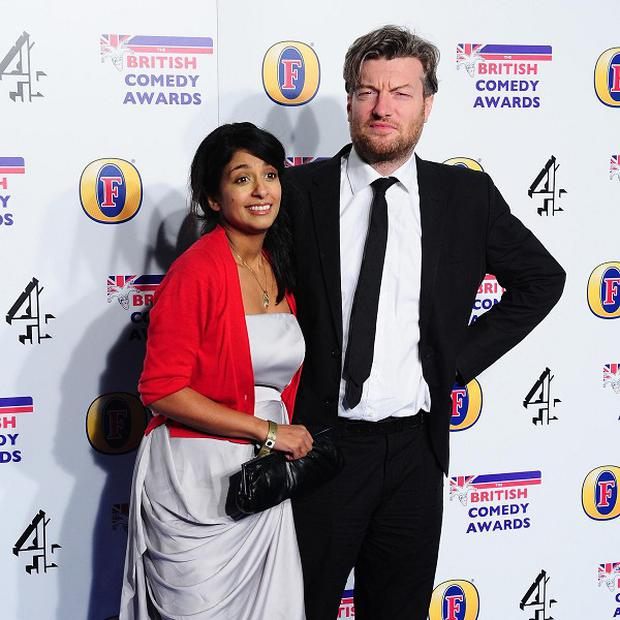 Konnie Huq and Charlie Brooker haven't bought any baby stuff yet