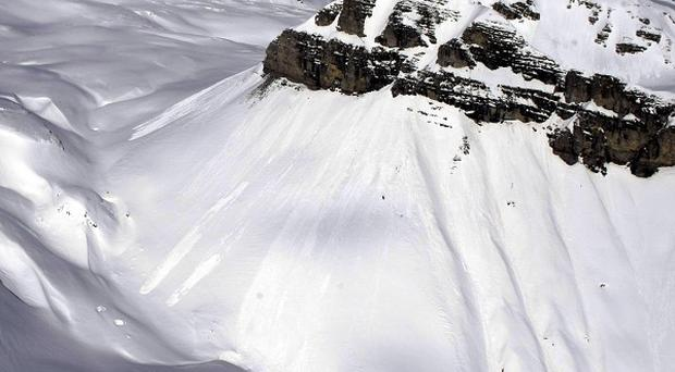 A snow covered mountain chain in a remote area 50 miles north of Podgorica, Montenegro (AP/ Marko Drobnjakovic)