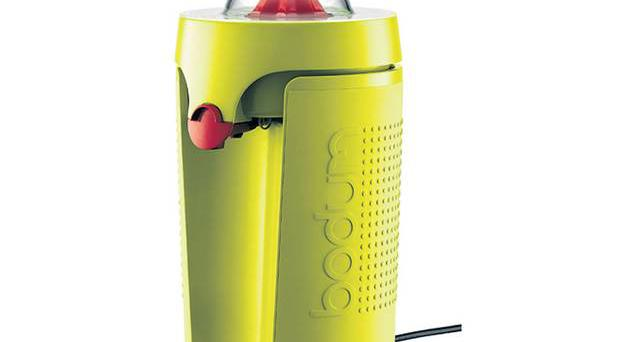 <b>1. Bodum</b><br/> £52.90, bodum.co.uk Higher than many other juicers, the Bistro has a drip-stop to prevent a sticky mess and its high-speed function squeezes out every drop.