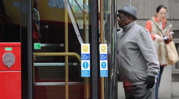 Bussing it: a passenger tries out the bus