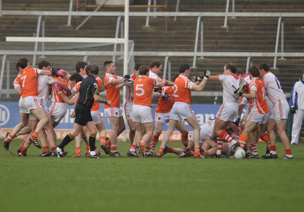Fighting broke out among Cork and Armagh players in their league game earlier this month