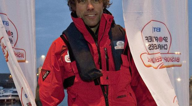 John Bishop has rowed 26 miles across the English Channel ro raise money for Sport Relief (Comic Relief/PA)
