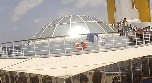 The Costa Allegra cruise ship was disabled by an engine fire and is being towed to the Seychelles (AP)