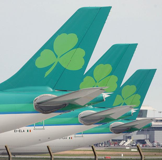 Despite a fall in Aer Lingus's profits chief executive Christoph Mueller said he was pleased with the annual report