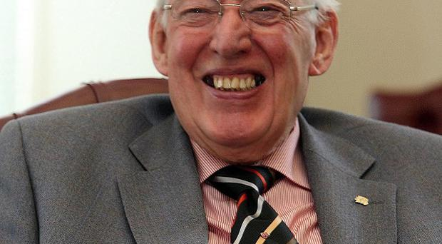 Old campaigner: His family has appealed for Ian Paisley to be given time and space to recuperate