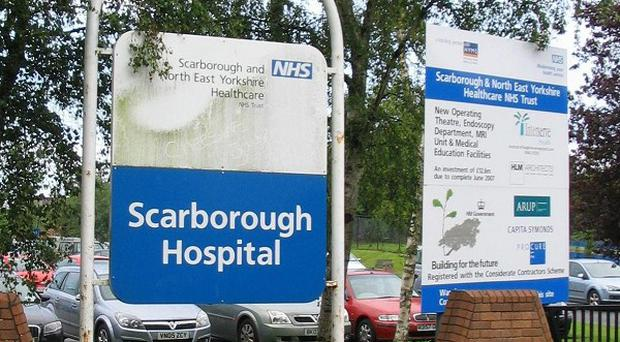 A patient at Scarborough Hospital was burnt when a solution applied to their skin caught fire