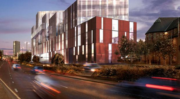 An artist impression of the new University of Ulster campus as viewed along Frederick Street (University of Ulster/PA)