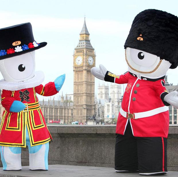 London 2012 Olympics mascot Wenlock (right) and Paralympic mascot Mandeville