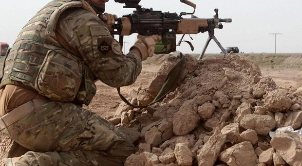 Troops are currently in Afghanistan where two Nato soldiers have been shot