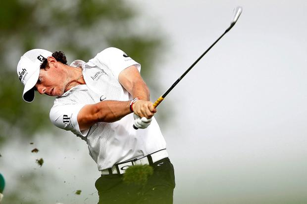 PALM BEACH GARDENS, FL - MARCH 01: Rory McIlroy of Northern Ireland hits his tee shot on the 17th hole during the first round of the Honda Classic at PGA National on March 1, 2012 in Palm Beach Gardens, Florida. (Photo by Mike Ehrmann/Getty Images)