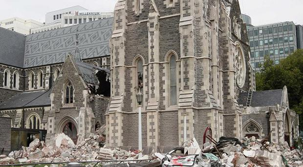 An earthquake-damaged cathedral in Christchurch will be demolished (AP)
