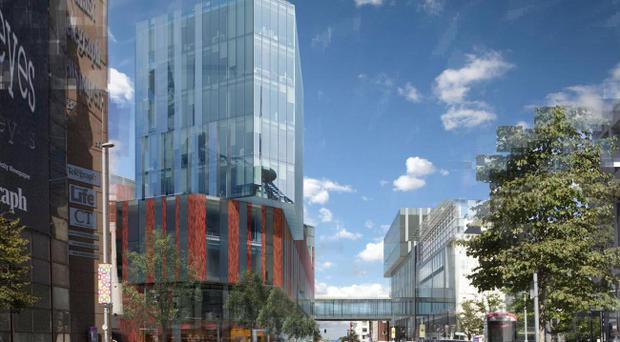 Artist's impression of the new campus viewed from Royal Avenue