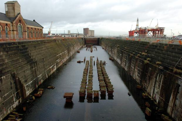 The Thompson graving dock awaiting development.