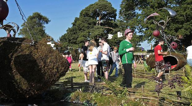 Revellers at the Body and Soul Arena at the Electric Picnic festival last year