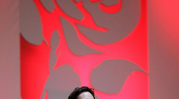 Labour leader Ed Milliband makes a speech at the Scottish Labour Party conference at the Caird Hall in Dundee
