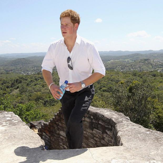 Prince Harry visits Xunantunich Mayan Temple in Benque Viejo del Carmen, Belize