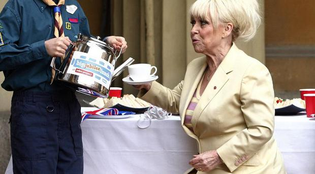 Barbara Windsor joins scouts for the Big Jubilee Lunch at Buckingham Palace