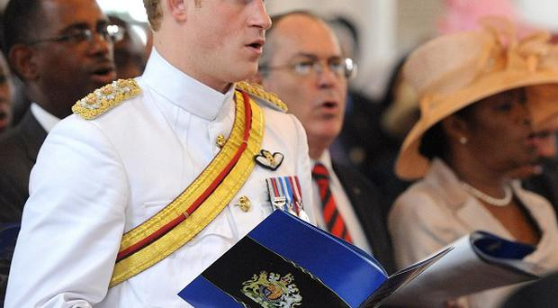 Prince Harry at Christ Church Cathedral in Nassau, Bahamas