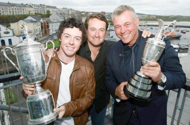 Rory McIlroy ,Graeme McDowell and Darren Clarke