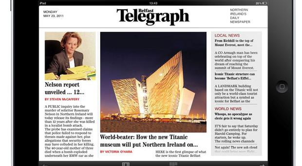 The Belfast Telegraph's iPad App is available to download iTunes